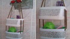 Çamaşır Suyu Kutusundan Banyo Askılıgı Yapımı Resimli Anlatım