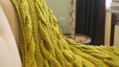 Şaç Örgülü Battaniye