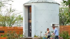Bu 30 m2'lik Harika Ev Bir Tahıl Silosundan Dönüştürülmüş