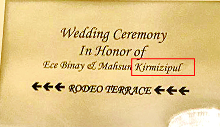 Mahsun Kırmızıgül'ün düğününde güldüren hata!