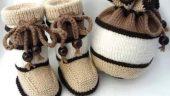 Çocuklarımızın Sevimliliklerine Sevimlilik Katacak Örgü bebek patiği modelleri