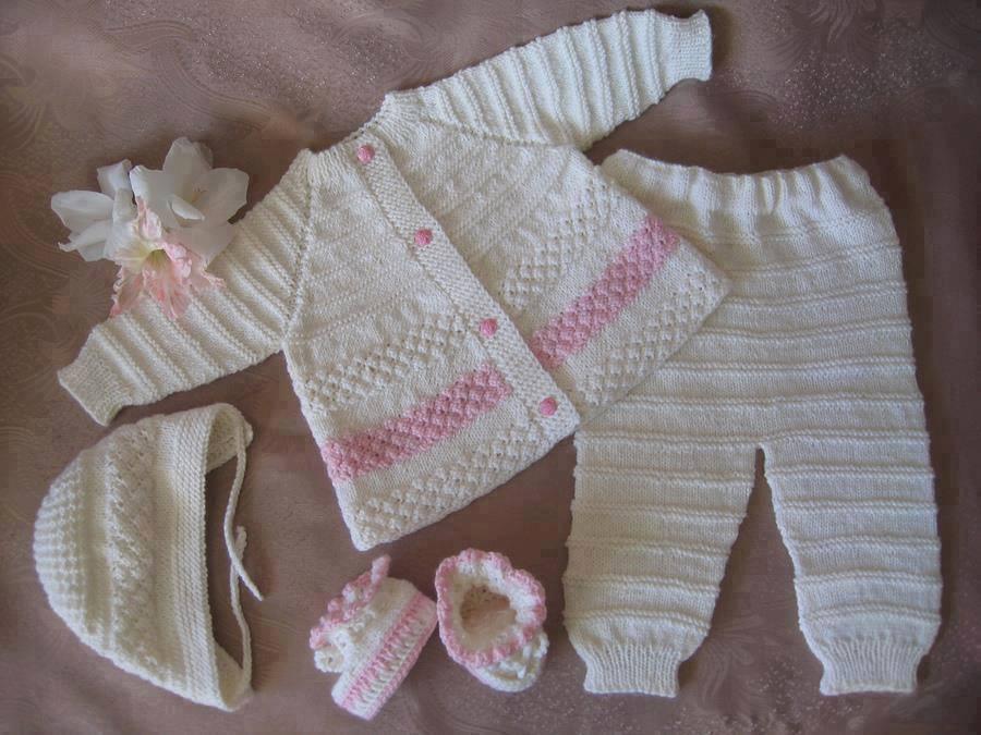 Вяжем регланом для новорожденным
