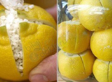 Üzerine Tuz Serpilmiş Limonu Odada Bekletin, Hayatınız değişecek