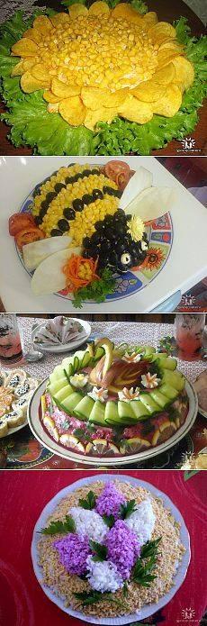 Кулинария праздничные салаты украшения фото
