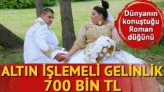 Sosyal medyayı sallayan Roman düğünü,üzerindeki gelinlik 680 bin tl