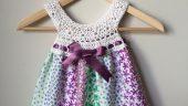 Bebeklere Örgü Kumaş Elbise Modelleri
