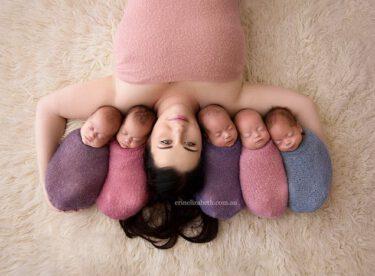 Dünyanın İlgi Odağı Olan Sevimli Beşizler ve Güzel Anneleri Herkesin Gönlünde Taht Kurdu