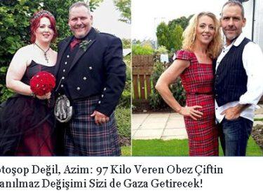 Fotoşop Değil, Azim: 97 Kilo Veren Obez Çiftin İnanılmaz Değişimi Sizi de Gaza Getirecek!