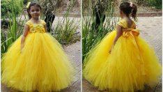 Çocuk abiye elbise tasarımı örnekleri