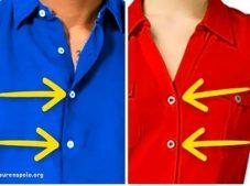 Kadın ve Erkek Gömleklerinin Düğmeleri Farklı Yerlerde, Peki Ama Neden?