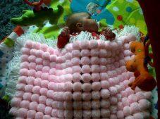 Ponpon bebek battaniyesi tarifi