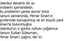 Mimar Sinan ve Su