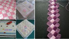 Tunus İşi Bebek Battaniye Modelleri