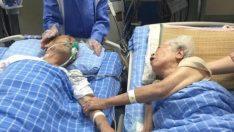 Son isteği 66 yıllık eşinin ellerini tutabilmekti