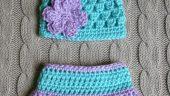 Bebekler İçin Örgü Külot ve Şapka Kombini