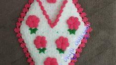 Çiçek Figürlü Lif Yapım Aşamalı Tarifi