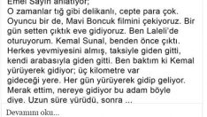 Emel Sayın Kemal Sunal'la İlgili Anısını Anlatıyor..