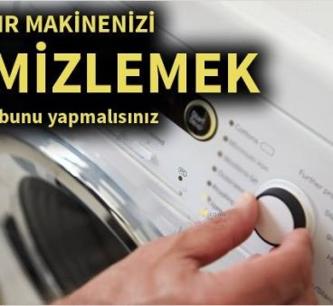 Çamaşır makinenizi temizlemek için bunu yapmalısınız!