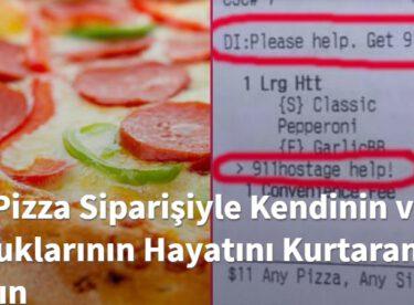 Bir Pizza Siparişiyle Kendinin ve Çocuklarının Hayatını Kurtaran Kadın