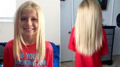 'Bana Kız Gibisin' Diyorlardı: 8 Yaşındaki Erkek Çocuğu İnsani Bir Amaç İçin 2 Yıl Saç Uzattı