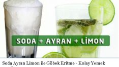 Soda Ayran Limon ile Göbek Eritme