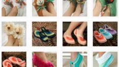 Bayan Örgü Ev Ayakkabısı