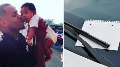 Oğluyla Kahvaltı Eden Baba Aracının Sileceğinde Bulduğu Nottan Çok Etkilendi