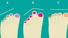 Ayak parmaklarınızın kişiliğiniz hakkında birçok şey anlattığını biliyor musunuz?