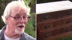 Bit Pazarından 125 Yıllık Şifonyer Aldı – İçinde Buldukları Sayesinde O Artık Zengin Bir Adam
