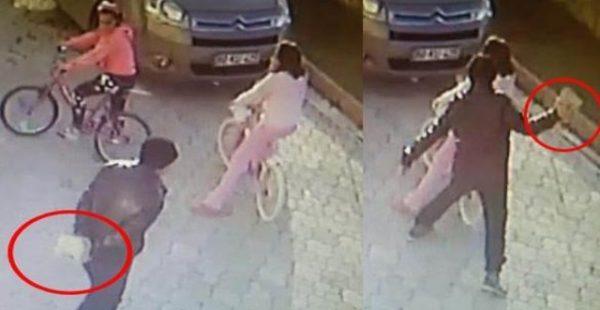 Küçük kıza parke taşıyla vurdu, tacizden gözaltına alınıp serbest bırakıldı…