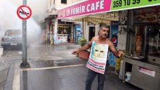 Kayıp annesi Fahriye Kara için adliye önünde aracını ateşe verdi
