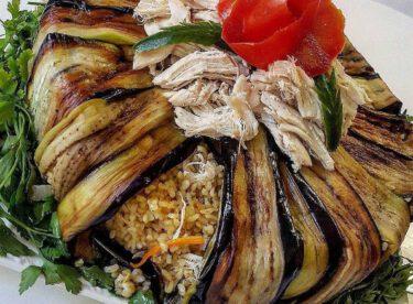 Tavuklu Patlıcanlı Bulgur Pilavı