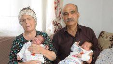 Uşak'ta 55 yaşındaki çiftin ikiz bebeği oldu!