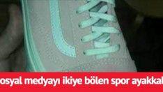 Sosyal medyayı ikiye bölen paylaşım! Bu ayakkabının rengini gri-yeşil görüyorsanız göz doktoruna gidin! Bakın aslında ne renk?