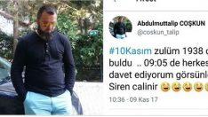 Atatürk hakkında skandal paylaşım! 'Herkesi helaya davet ediyorum' dedi