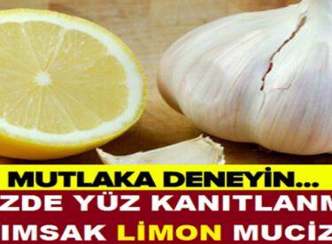 Yüzde Yüz Kanıtlanmış Limon Sarımsak Mucizesi! Faydaları Saymakla Bitmiyor