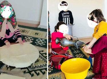 Anaokulunda tepki çeken görüntü: Kız çocuklarına erkek çocuklarının ayakları yıkatıldı