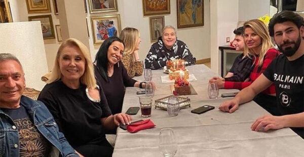 Mehmet Ali Erbil yeni yaşını eski eşleriyle kutladı